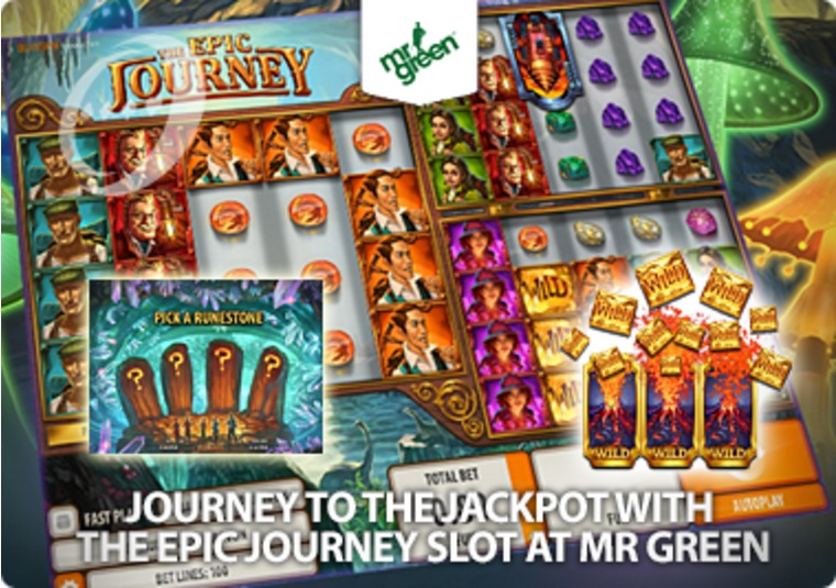 Journey to the jackpot with The Epic Journey slot at Mr Green
