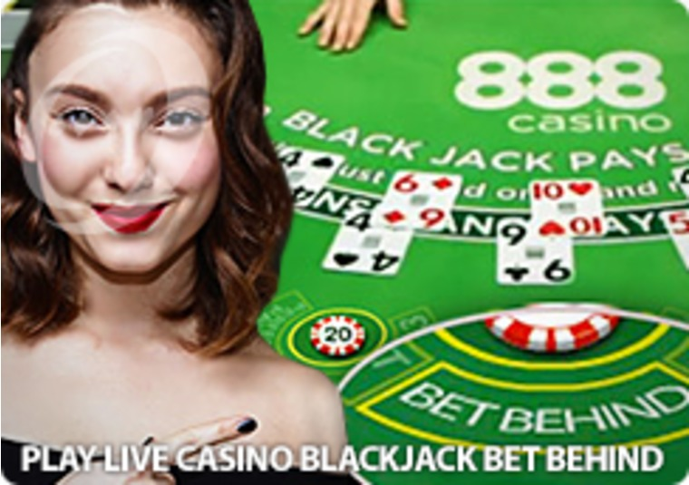 Bet Behind and win on Live Blackjack at 888 Casino