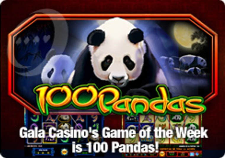 Gala Casino's Game of the Week is 100 Pandas