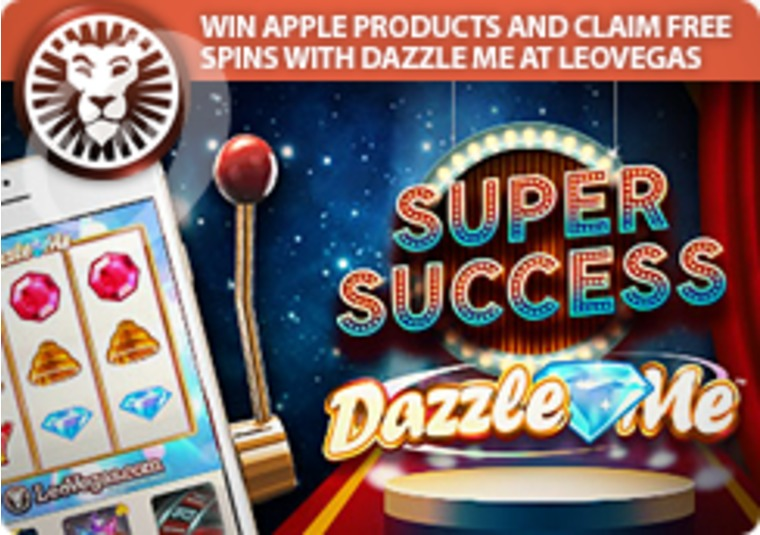 Win Apple Products and Claim Free Spins With Dazzle Me at LeoVegas