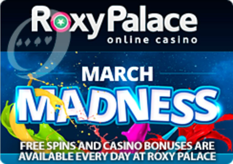 Free spins and casino bonuses are available every day at Roxy Palace