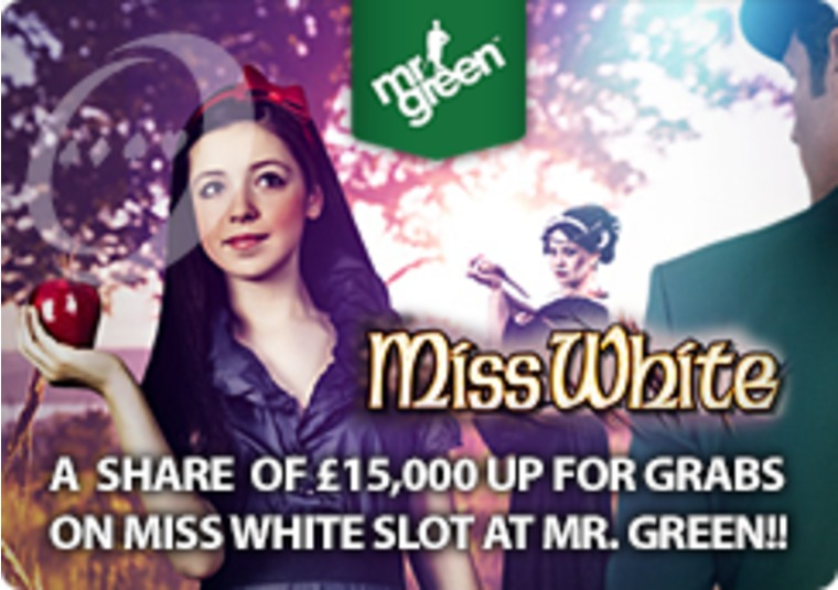 A Share of £15,000 Up for Grabs on Miss White Slot at Mr Green