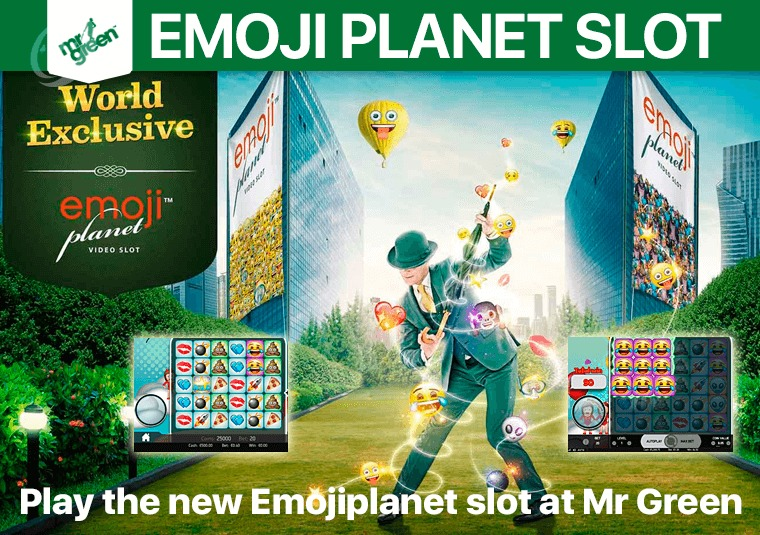 Play the new Emojiplanet slot at Mr Green