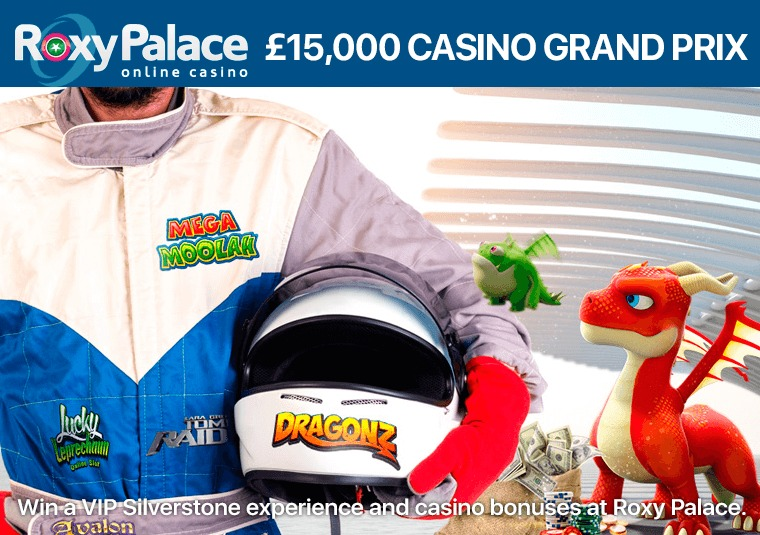 Win a VIP Silverstone experience and casino bonuses at Roxy Palace