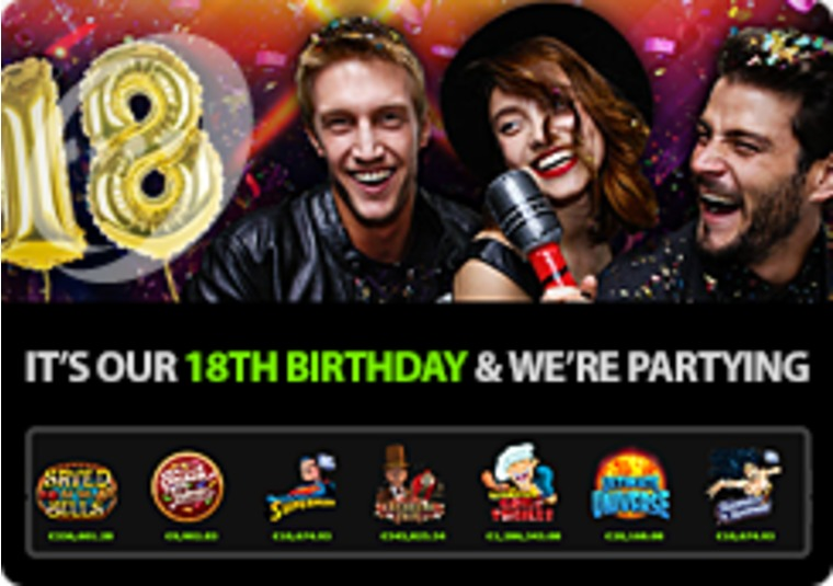 Celebrate 888casino's birthday with £3,600 in FreePlay