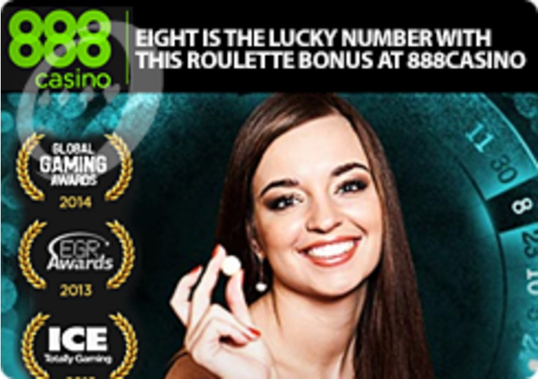 Eight Is the Lucky Number With This Roulette Bonus at 888casino