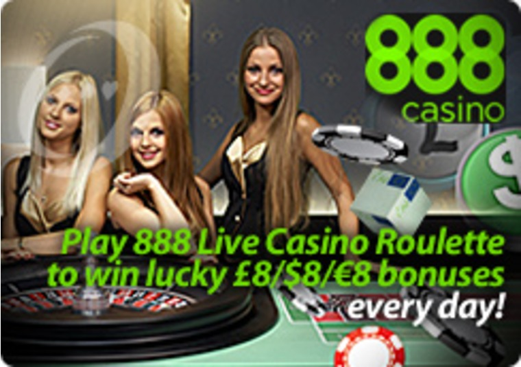 Bonuses Rolling at the 888 Live Casino Roulette