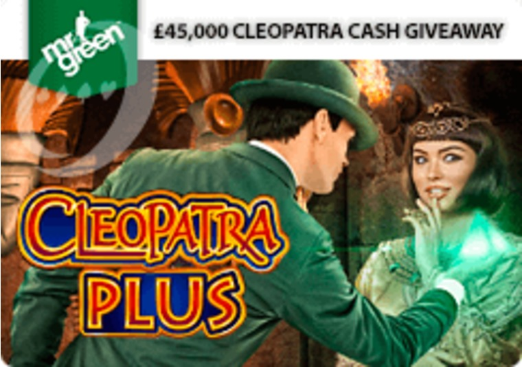 Win a share of £45k cash playing the new Cleopatra game at Mr Green