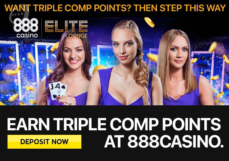 Earn triple Comp Points at 888casino
