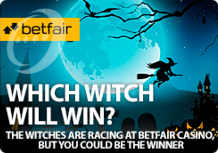 The witches are racing at Betfair Casino, but you could be the winner