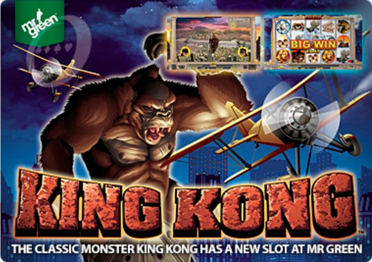 The classic monster King Kong has a new slot at Mr Green